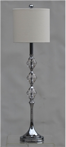 BEIGE TRI-DIAMOND BUFFET LAMP