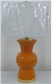 ORANGE BELLY VASE TABLE LAMP
