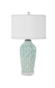 OCEAN BLUE RIPPLE TABLE LAMP