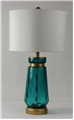 Vintage Northern Blue Brass Banded Table Lamp