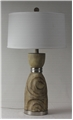 Faux Ringed Tree Table Lamp