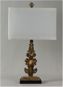 Antiqued Gild Finial Table Lamp