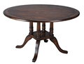 "60"" ROUND OAK PEDESTAL TABLE"