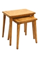 S/2 NESTING TABLES-HONEY OAK