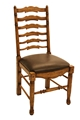LADDERBACK SIDE CHAIR-HONEY OAK