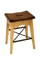 LODGE COUNTER STOOL - ANTIQUE WHITE