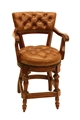 HAMPDEN COUNTER CHAIR - WHISKEY (swivel,arms)