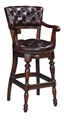 HAMPDEN COUNTER CHAIR - CIGAR (swivel,arms)