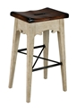 LODGE BAR STOOL - ANTIQUE WHITE