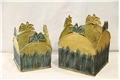 SET OF 2 PLANTERS - YELLOW