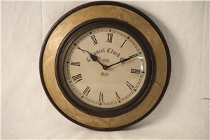 WOODEN PAINTED CLOCK