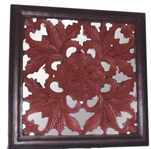 PANEL WITH MIRROR - RED