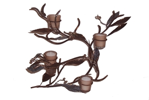 IRON CANDLE HOLDER WITH VOTIVES