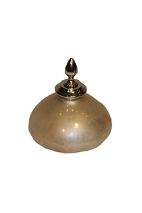 PEARL GLASS BULBED FINIAL BOTTLE - MEDIUM