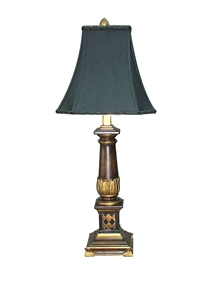 BROWN & GOLD COLUMN LAMP