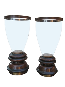 SET OF 2 HURRICANE CANDLE HOLDERS