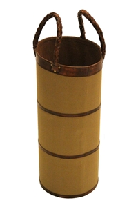 UMBRELLA STAND - CANVAS/LTHR TRIM