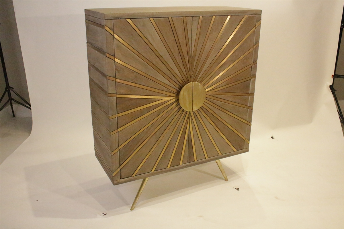 Golden Rays Hall Cabinet