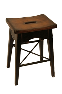 LODGE COUNTER STOOL - BLACK