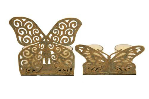 SET OF 2 BUTTERFLY T-LITES