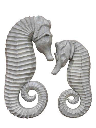 SET OF 2 SEA HORSE WALL HANGING