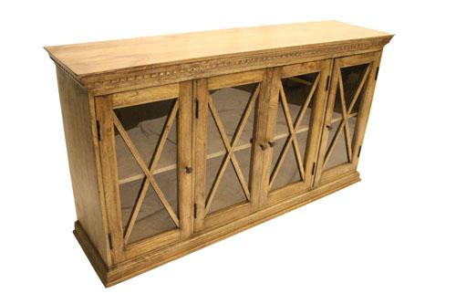 4-GLASS X-DOOR BUFFET SIDEBOARD