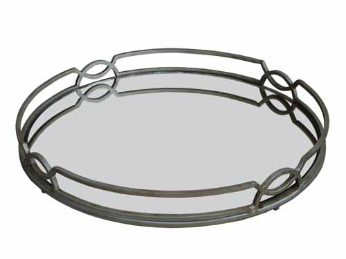 ART DECO MIRRORED SERVING TRAY