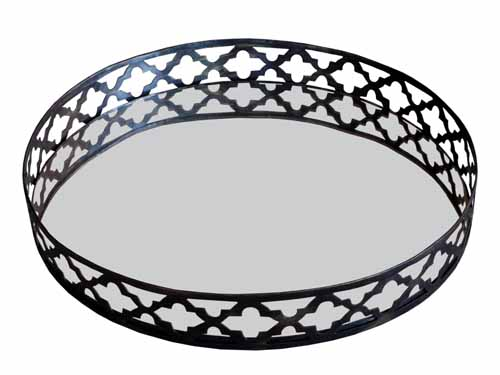 ADELINA MIRRORED SERVING TRAY