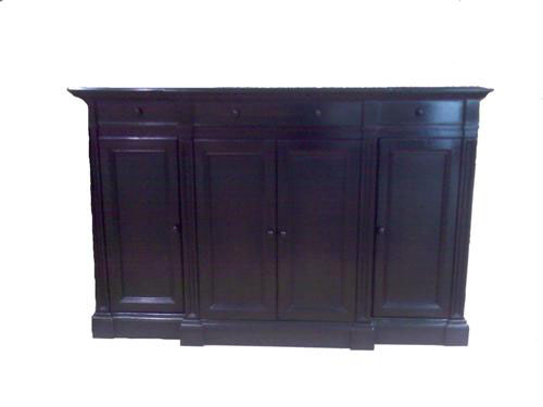 - SIDEBOARD BUFFET CONSOLE CABINET - ANTIQUE EBONY