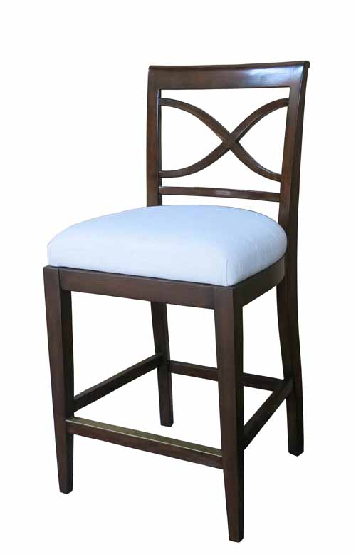 WINDWARD COUNTER CHAIR - LINEN SEAT