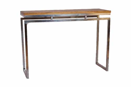 DECO PLANK CONSOLE TABLE WITH STAINLESS STEEL
