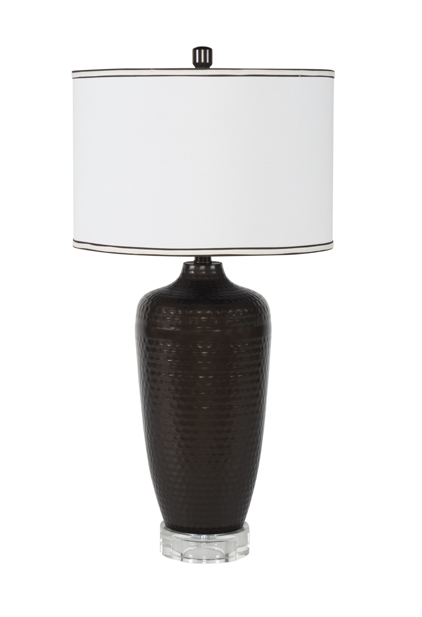 Charcoal Hammered Table Lamp