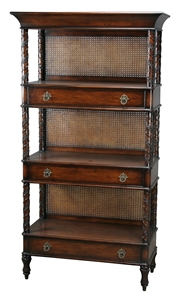 WICKER ETAGERE - BROWN