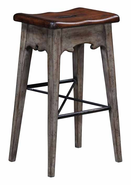 Lodge Bar Stool Rustic Grey