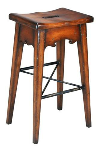 lodge bar stool brown