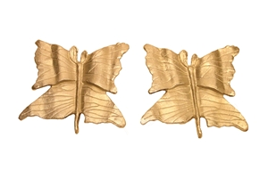 S/2 ALUMINUM BUTTERFLY PLAQUES- SMALL