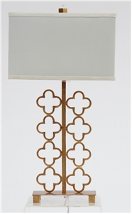 GOLD CLOVER METAL TABLE LAMP
