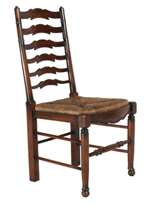 LADDER BACK SIDE CHAIR - ACACIA